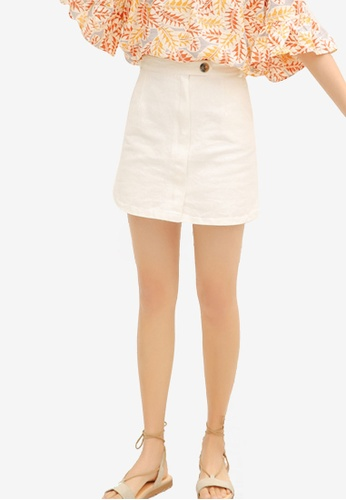 Shopsfashion white Light Denim Mini Skirt E4769AAA292E2AGS_1