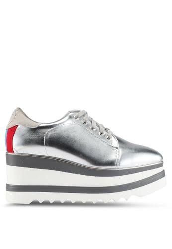 Twenty Eight Shoes silver Platform Wedge Derbies D7A70SH719ABA7GS_1