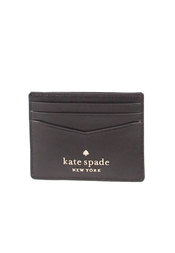 KATE SPADE black Kate Spade Small Staci WLR00129 Slim Card Holder In Black 7375EACEDBEE6DGS_1