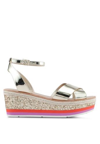 ALDO gold Asiella Wedge Sandals D86F6SH4AFE5BDGS_1