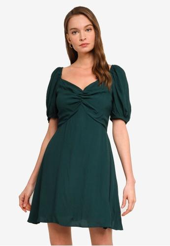 Sável green Natania Mini Dress BE1C5AA348DFA2GS_1