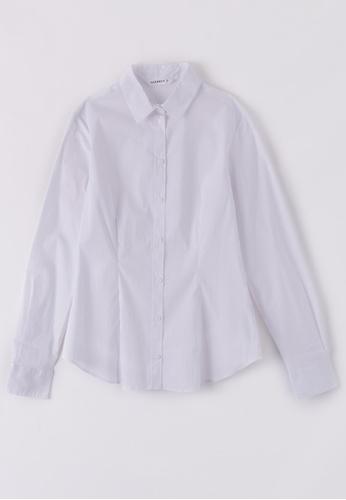 Terranova white Classic Elegant Shirt 087DCAAAB846FCGS_1