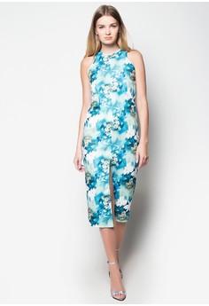 Halter Maxi Dress w/ Front Slit
