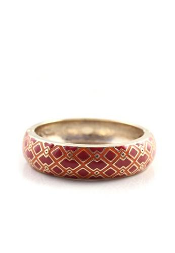LEUPP pink and orange and gold Geometric Print Bangle TO983AC18DOVPH_1