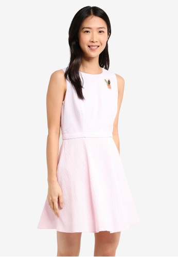 fd401ffd7e15 Buy ZALORA Patch Detail Sleeveless Skater Dress Online on ZALORA ...