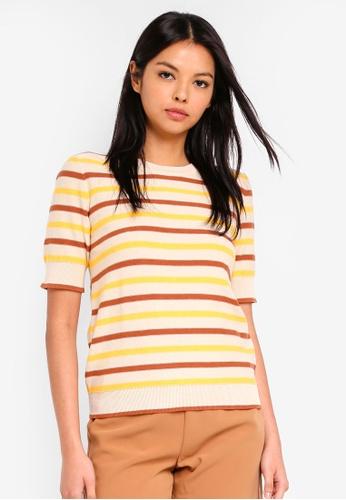ESPRIT yellow Short Sleeve Sweater FC42EAA410E574GS_1