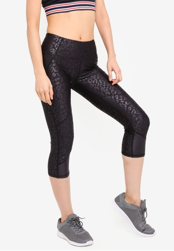 Cotton On Body black and multi Placement Print Crop Tights DE4E2AA4B00570GS_1