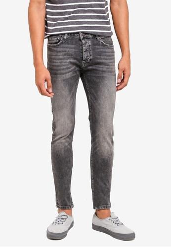 Topman grey Vintage Grey Stretch Skinny Jeans FDF69AA9232C73GS_1