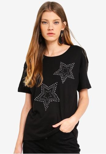 JACQUELINE DE YONG black Star Top 6B5C0AA20989A6GS_1