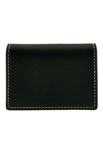 LUXORA black The Ninja Co. Top Grain Leather Card Wallet Holder Black B0FEEACEF4D68AGS_1