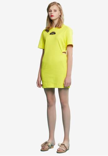 拼貼鏤esprit 香港 outlet空連身裙, 服飾, 洋裝