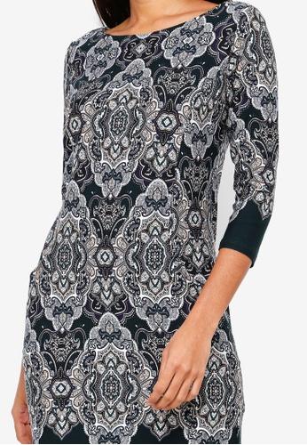 6e0dec4b326 Buy Wallis Petite Green Paisley Print Tunic Dress Online | ZALORA Malaysia