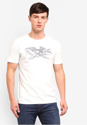 Jack & Jones 白色 圓領T恤 D784AAAEE7DF5AGS_1