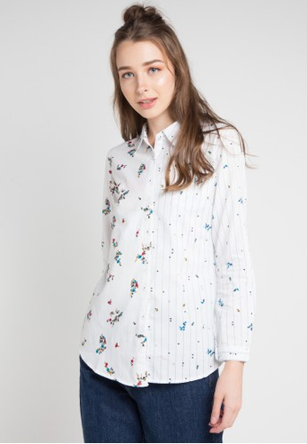 Cressida Ladies white and multi Destiny Simple Shirt ABE95AA19A187EGS_1