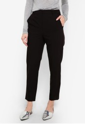 TOPSHOP black High Waisted Cigarette Trousers TO412AA0RMXKMY_1