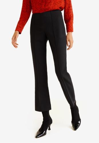 Mango black Straight Suit Trousers 99BE1AAE71E203GS_1