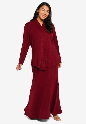 CURVA FABULOUS red Ms Umairah Bodycon Kebaya Kurung 57037AA8805511GS_1