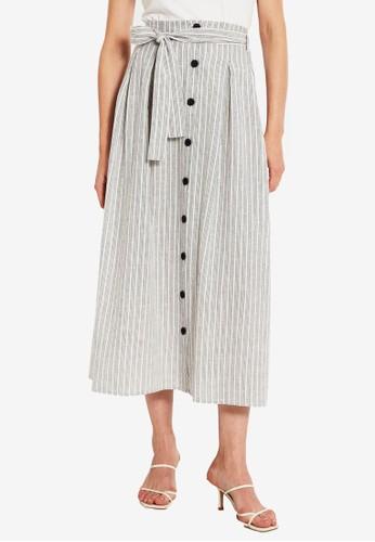 LC Waikiki black Striped Cotton Skirt 921EBAA897BB16GS_1