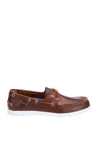 Sebago brown Mens Litesides Two Eye Boat Shoes 45E67SH0F1EF03GS_1
