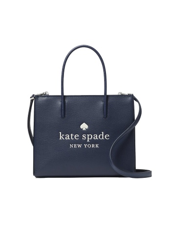 Kate Spade navy Kate Spade Trista Leather Shopper Tote Nightcap wkr00384 0223BAC73ADAA5GS_1