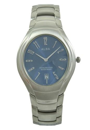 Alba silver ALBA Jam Tangan Pria - Silver Darkblue - Stainless Steel - AVKC51 AL383AC0V4Y6ID_1
