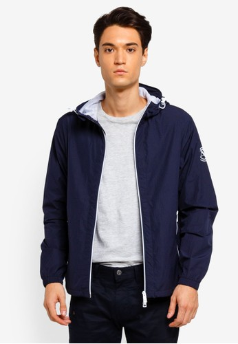 Armani Exchange navy Seersucker Jacket With Hood 4A88BAAA4DD2D7GS_1