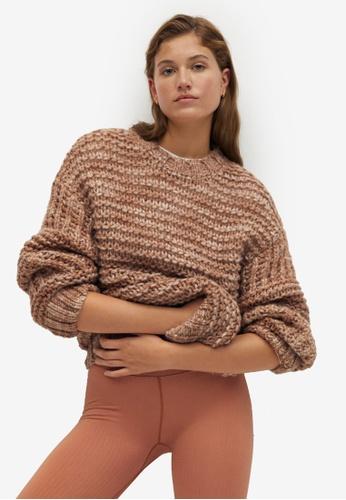 Mango brown Open Chunky-Knit Sweater C26C9AA07E2C3FGS_1