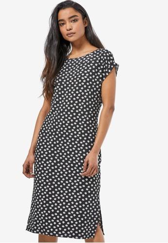 Dorothy Perkins black Petite Daisy T-Shirt Midi Dress 83202AA630BE9AGS_1