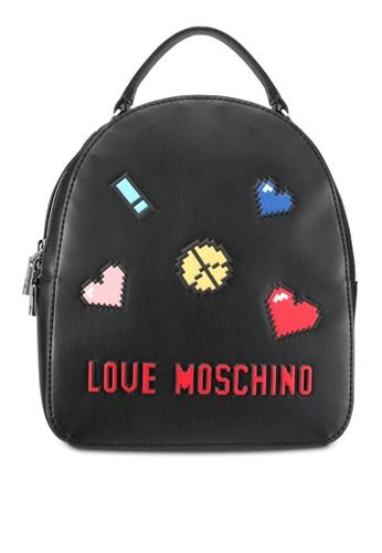 Love Moschino black Borsa Soft Nappa Backpack LO478AC0SEJ8MY_1