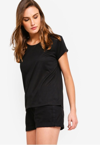 4516eda3 Shop ZALORA BASICS Basic Scoop Neck T-Shirt Online on ZALORA Philippines