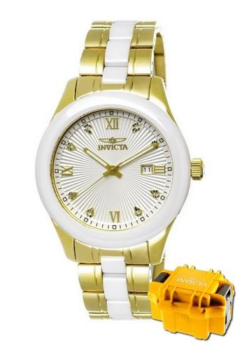 INVICTA gold Invicta Specialty Men 42mm Case Stainless Steel Ceramic Strap Dial Quartz Watch 18154 w/ Impact Case A1D7DAC46BAED1GS_1
