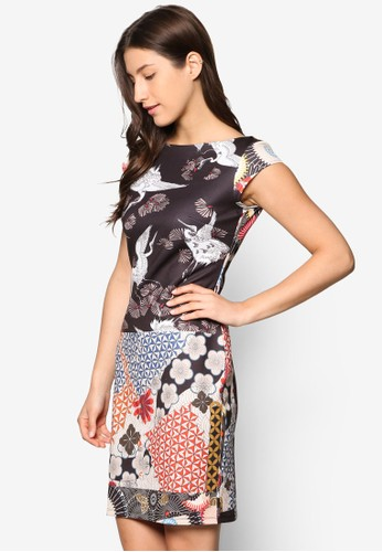 Damaris 印花短袖連身裙, esprit分店服飾, 洋裝