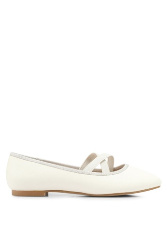 ZALORA white Cross Strap Ballerinas B1FB1SH097214AGS_1