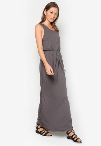 蕾絲圓領束腰長洋裝, 服飾, 洋esprit 面試裝