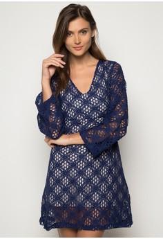 Mira lined Lace Dress