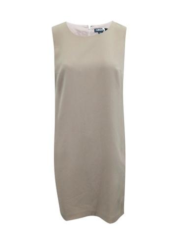Dkny 粉紅色 dkny 淡粉色和黑色直筒連衣裙 DD767AAA4313ACGS_1