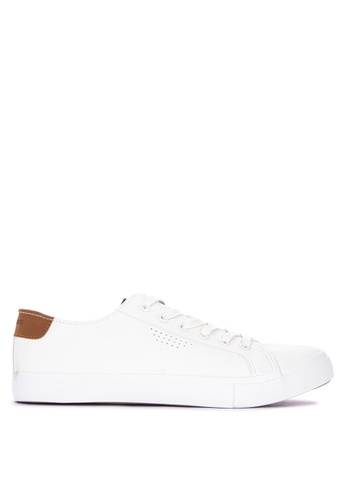 Penshoppe white Lace-Up Sneakers 0BE13SH3F77558GS_1