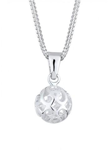 Elli Germany silver Perhiasan Wanita Perak Asli - Silver Kalung Ornament Ball Silver C434EAC23A7E36GS_1