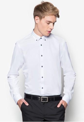暗紋印花長袖襯衫, 服飾esprit 香港 outlet, 素色襯衫
