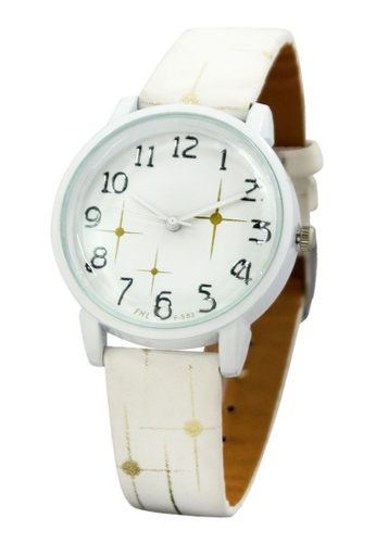 World of Watches white FHL Orion Women's Leather Strap Watch F-583 WO566AC04IRVPH_1