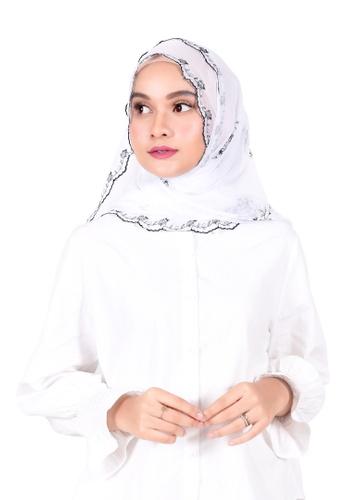 Ava Moony white Azalea Scarf A8724AAA39F034GS_1