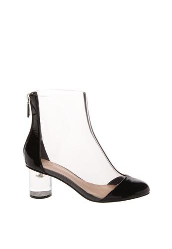 SCHUTZ black SCHUTZ PVC Ankle Boots - CLAIR (TRANSPAREN TE/BLACK) D338ESH16A57D3GS_1