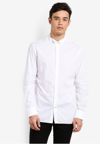 MANGO Man white Slim-Fit Tailored Cotton Shirt MA449AA40CJBMY_1