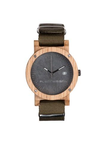 原石系zalora taiwan 時尚購物網列沉穩灰橡木錶, 錶類, 時尚型
