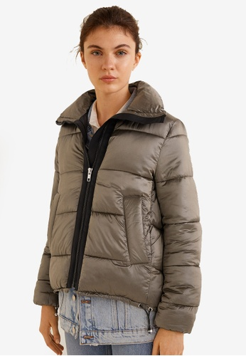 Mango brown Quilted Water-Repellent Jacket 246CDAAF6E9555GS_1