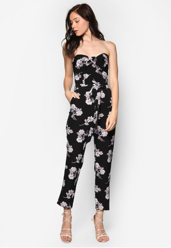 花卉印花平口連身長褲, 服esprit taiwan飾, 服飾