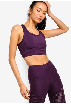 d3b2945225eda Running Bare purple Allure Extended Crop Top With Arrow Back  3E800USC4AD0E7GS 1