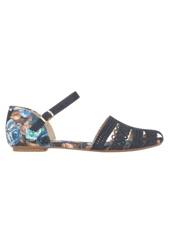 Beira Rio black and multi and navy Floral Laced Espadrilles BE995SH89ESCHK_1