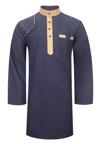 Pacolino blue Baju Kurta Muslim For Kids - EK1702 (Blue) 3E292KAE318216GS_1