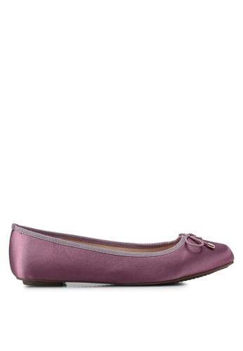 Nose 紫色 綢緞蝴蝶結平底鞋 E9240SH3B51DE9GS_1
